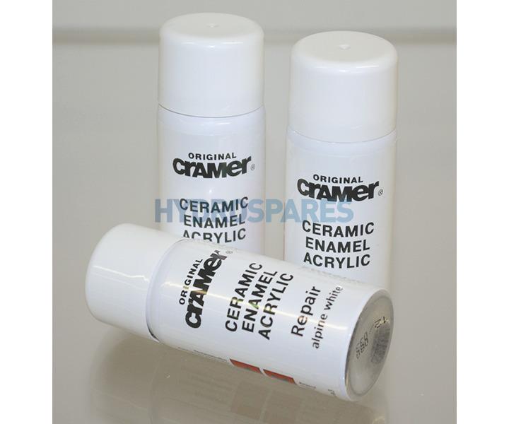 Cramer Bathroom Kitchen Repair Cover Spray 50ml Alpine White
