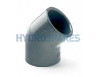 1.00 Inch PVC Elbow 90 - Equal  Grey