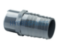 1-1/2 Inch PVC Hose Adaptor - Barbed