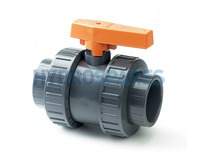 PVC Ball Valve - Double Union 32mm - Grey