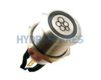 HydroAir Single Function LED Button - 22mmØ