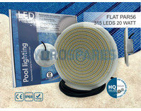 20W Flat LED Pool Lamp Replacement - BLUE