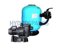 Lacron Side Mount Filter & Lacronite 0.75HP Pump