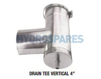 Z-Vent Drain Tee Vertical 4 in