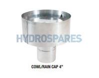 Z-Vent Cowl Rain Cap 4 inch