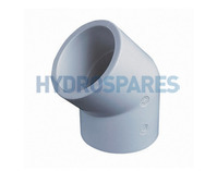 "2.00"" Inch ABS Elbow 45° - Equal"