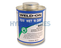 Weld On 725 Wet 'R Dry Solvent Cement Glue - PVC Compatible