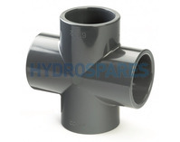 50mm PVC Cross Equal Plain