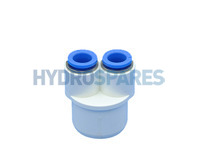 Hydrospares End Cap with Twin Push Fit Conections