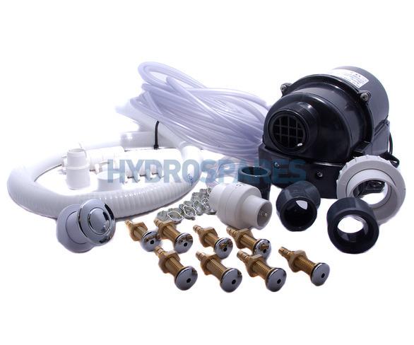 hydroair air spa kit diy 8 jet chrome